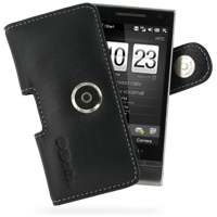 Leather Horizontal Pouch Case with Belt Clip for HTC Touch Diamond 2 (Black)