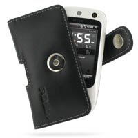 Leather Horizontal Pouch Case with Belt Clip for HTC Touch Dual 850/DoCoMo HT1100 (Black)