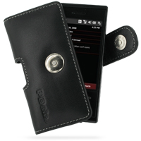 Leather Horizontal Pouch Case with Belt Clip for HTC Touch Pro XV6850 (Black)