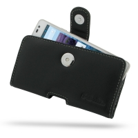 Huawei Ascend D2 Leather Holster Case PDair Premium Hadmade Genuine Leather Protective Case Sleeve Wallet