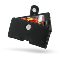 Huawei Ascend P1 U9200 Leather Holster Case PDair Premium Hadmade Genuine Leather Protective Case Sleeve Wallet