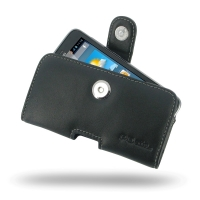 Huawei Ascend Y511 Leather Holster Case PDair Premium Hadmade Genuine Leather Protective Case Sleeve Wallet