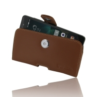 Huawei Honor 4C Leather Holster Case (Brown) PDair Premium Hadmade Genuine Leather Protective Case Sleeve Wallet