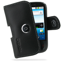 Leather Horizontal Pouch Case with Belt Clip for Huawei IDEOS U8150 (Black)