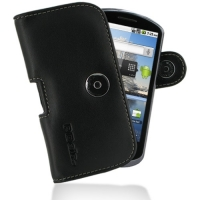 Leather Horizontal Pouch Case with Belt Clip for Huawei IDEOS X5 U8800 (Black)