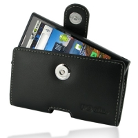 Leather Horizontal Pouch Case with Belt Clip for Huawei IDEOS X6 U9000/Huawei Ascend X (Black)