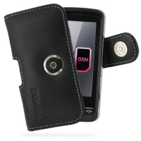 Leather Horizontal Pouch Case with Belt Clip for LG KS660 (Black)