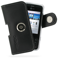 Leather Horizontal Pouch Case with Belt Clip for LG KT520 (Black)