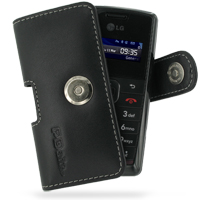 Leather Horizontal Pouch Case with Belt Clip for LG KT610 (Black)