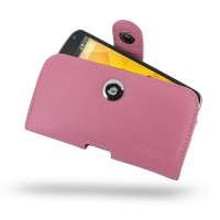 Nexus 4 Leather Holster Case (Petal Pink) PDair Premium Hadmade Genuine Leather Protective Case Sleeve Wallet