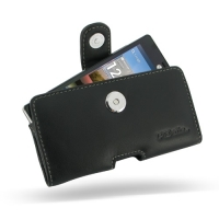 Leather Horizontal Pouch Case with Belt Clip for LG Optimus 4X HD P880