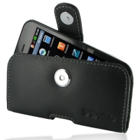 LG Optimus SOL Leather Holster Case PDair Premium Hadmade Genuine Leather Protective Case Sleeve Wallet