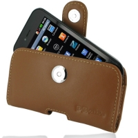 LG Optimus SOL Leather Holster Case (Brown) PDair Premium Hadmade Genuine Leather Protective Case Sleeve Wallet