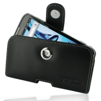 Leather Horizontal Pouch Case with Belt Clip for Motorola Atrix 2 MB865