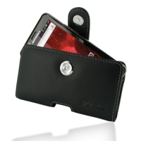 Motorola Droid Bionic Leather Holster Case (Black) PDair Premium Hadmade Genuine Leather Protective Case Sleeve Wallet