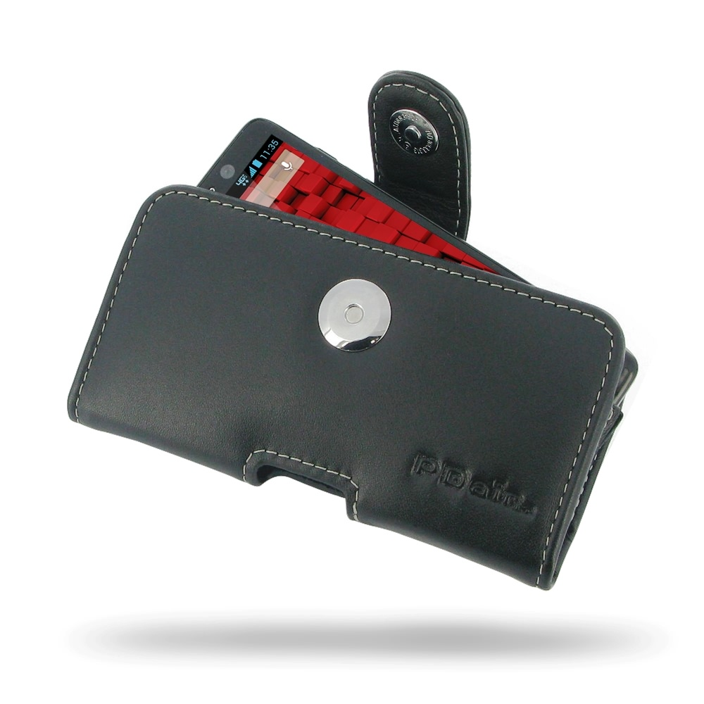 pretty nice 06207 759fc Leather Horizontal Pouch Case with Belt Clip for Motorola Droid Mini XT1030