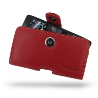 Leather Horizontal Pouch Case with Belt Clip for Motorola Droid Razr Maxx HD (Red)