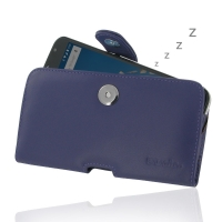 Leather Horizontal Pouch Case with Belt Clip for Motorola Google Nexus 6 XT1103 (Purple)