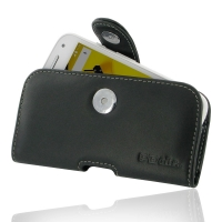 Moto E 2nd Leather Holster Case PDair Premium Hadmade Genuine Leather Protective Case Sleeve Wallet