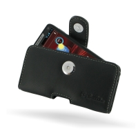Leather Horizontal Pouch Case with Belt Clip for Motorola Razr i XT890