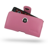 Leather Horizontal Pouch Case with Belt Clip for Motorola Razr i XT890 (Petal Pink)