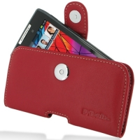Leather Horizontal Pouch Case with Belt Clip for Motorola RAZR XT910/Droid RAZR XT912 (Red)