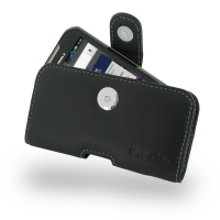 Leather Horizontal Pouch Case with Belt Clip for Motorola XT626