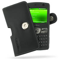 Leather Horizontal Pouch Case with Belt Clip for MWg UBiQUiO 503G (Black)