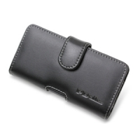 NEC MEDIAS LTE N-04D Leather Holster Case (Black) PDair Premium Hadmade Genuine Leather Protective Case Sleeve Wallet