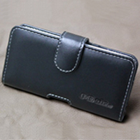 Leather Horizontal Pouch Case with Belt Clip for NEC Medias X N-04E (Black)