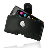 Leather Horizontal Pouch Case with Belt Clip for Nokia 500 (Black)