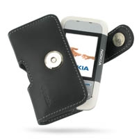 Nokia 5300 / 5200 Leather Holster Case (Black) PDair Premium Hadmade Genuine Leather Protective Case Sleeve Wallet