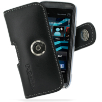 Leather Horizontal Pouch Case with Belt Clip for Nokia 5530 XpressMusic (Black)