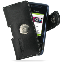 Nokia 7100 Supernova Leather Holster Case (Black) PDair Premium Hadmade Genuine Leather Protective Case Sleeve Wallet