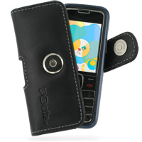 Nokia 7310 Supernova Leather Holster Case (Black) PDair Premium Hadmade Genuine Leather Protective Case Sleeve Wallet