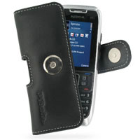 Nokia E51 Leather Holster Case (Black) PDair Premium Hadmade Genuine Leather Protective Case Sleeve Wallet