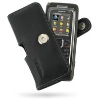 Nokia E90 Communicator Leather Holster Case PDair Premium Hadmade Genuine Leather Protective Case Sleeve Wallet