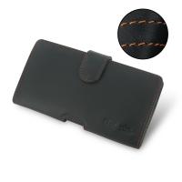 Nokia Lumia 1520 Leather Holster Case (Orange Stitch) PDair Premium Hadmade Genuine Leather Protective Case Sleeve Wallet