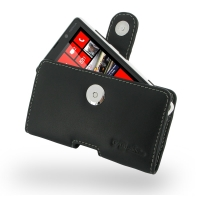 Nokia Lumia 820 Leather Holster Case PDair Premium Hadmade Genuine Leather Protective Case Sleeve Wallet