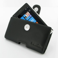 Nokia Lumia 900 Leather Holster Case PDair Premium Hadmade Genuine Leather Protective Case Sleeve Wallet
