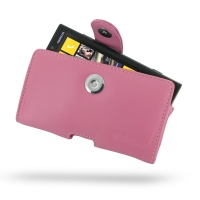 Nokia Lumia 920 Leather Holster Case (Petal Pink) PDair Premium Hadmade Genuine Leather Protective Case Sleeve Wallet