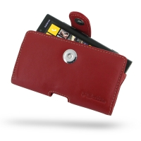 Nokia Lumia 920 Leather Holster Case (Red) PDair Premium Hadmade Genuine Leather Protective Case Sleeve Wallet