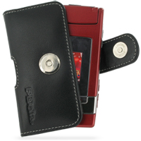 Nokia N76 Leather Holster Case (Black) PDair Premium Hadmade Genuine Leather Protective Case Sleeve Wallet