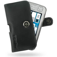 Leather Horizontal Pouch Case with Belt Clip for Nokia N800 Internet Tablet (Black)