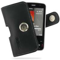 Nokia N96 Leather Holster Case (Black) PDair Premium Hadmade Genuine Leather Protective Case Sleeve Wallet
