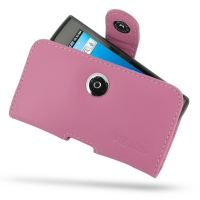 Leather Horizontal Pouch Case with Belt Clip for Samsung Captivate Galaxy S SGH-i897 (Petal Pink)