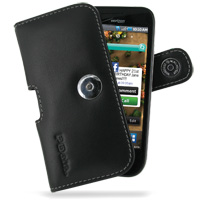 Samsung Fascinate Galaxy S Leather Holster Case (Black) PDair Premium Hadmade Genuine Leather Protective Case Sleeve Wallet