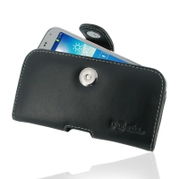 Samsung GALAXY BEAM 2 Leather Holster Case PDair Premium Hadmade Genuine Leather Protective Case Sleeve Wallet