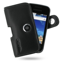 Leather Horizontal Pouch Case with Belt Clip for Samsung Galaxy Gio GT-S5660 (Black)