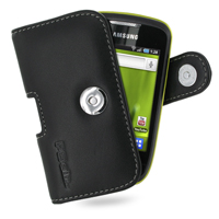 Leather Horizontal Pouch Case with Belt Clip for Samsung Galaxy Mini GT-S5570 (Black)
